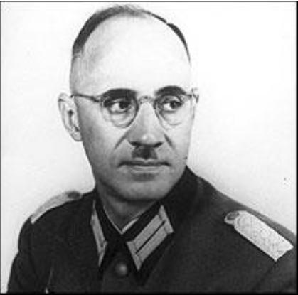El comandante Karl Plagge. Fuente: vilnaguetto.com